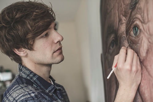 Kyle Barnes Artist Painting Portrait Large Scale