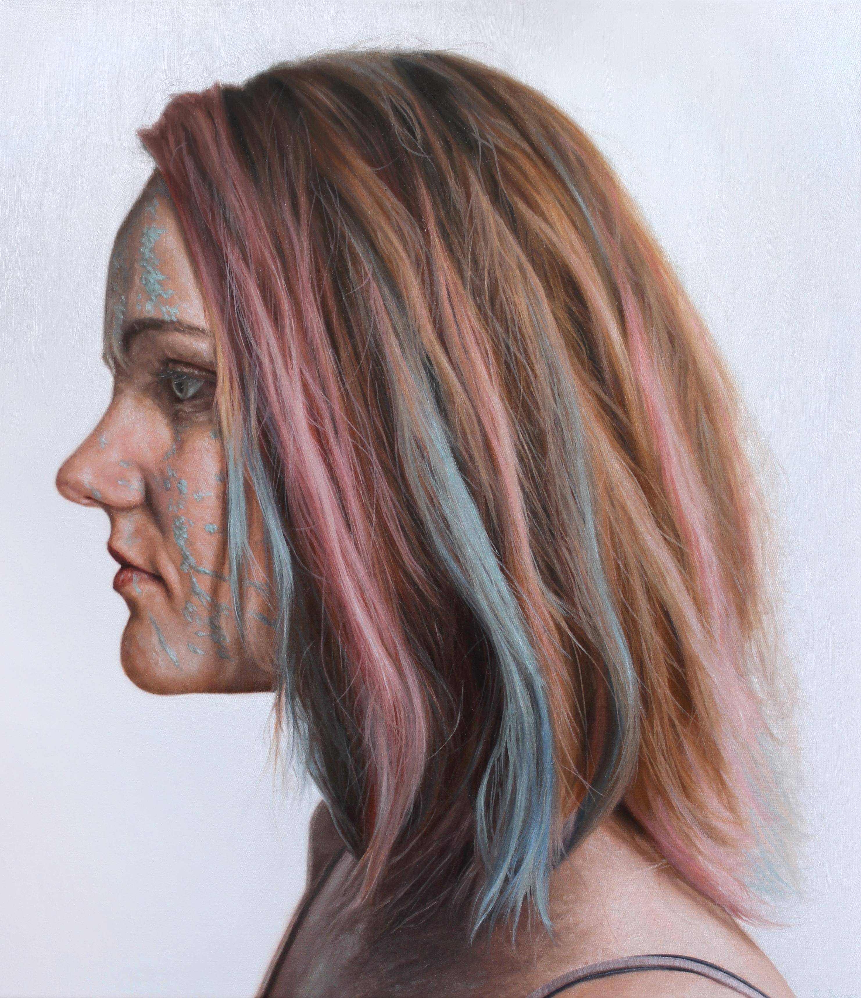 'Woman with multicoloured hair' Kyle Bar
