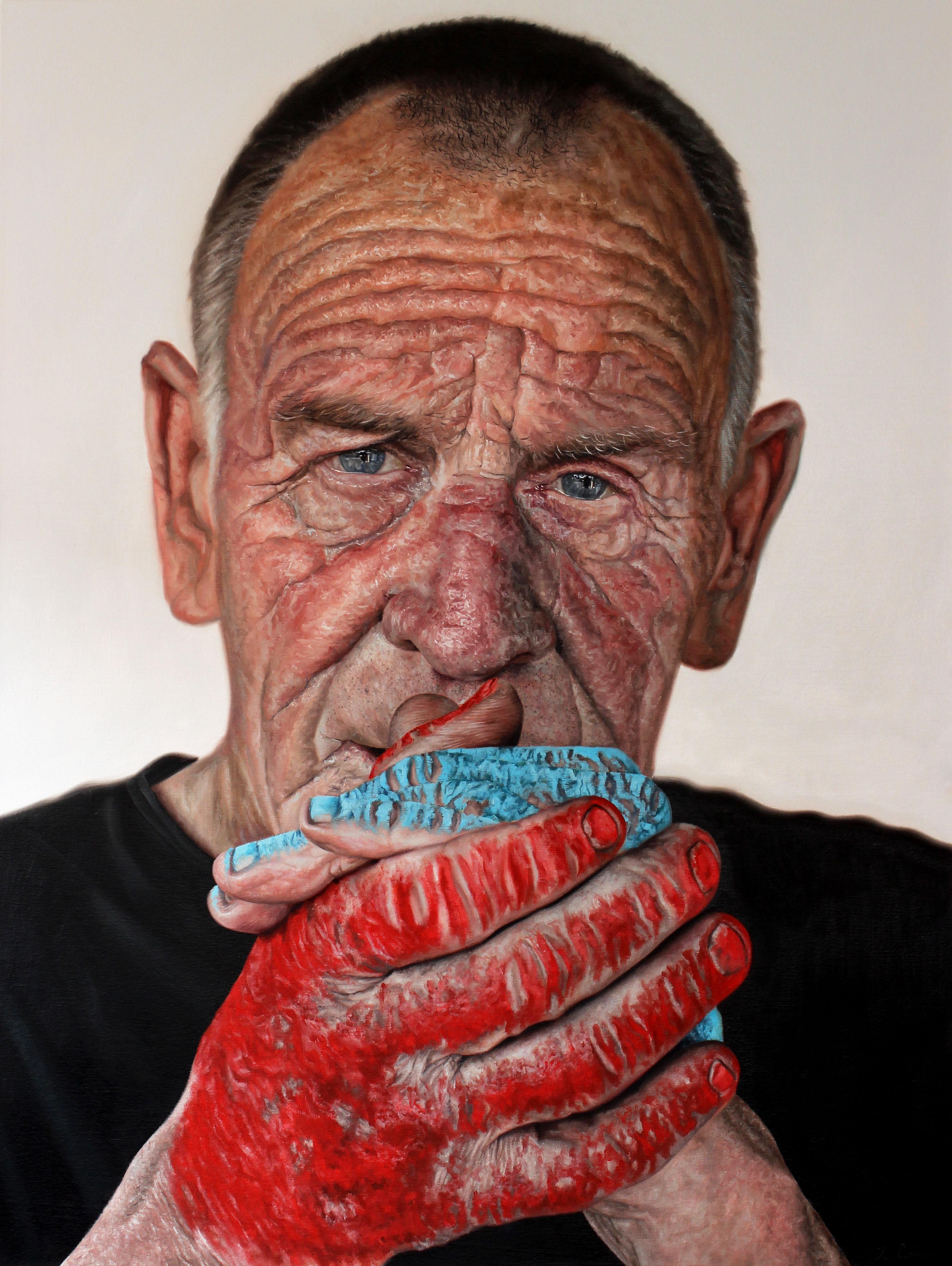'Stephen' Oil on canvas, 97cm x 127cm, Kyle Barnes