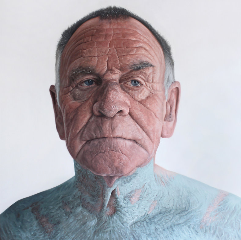 'Veteran' Kyle Barnes, Oil on canvas, 14