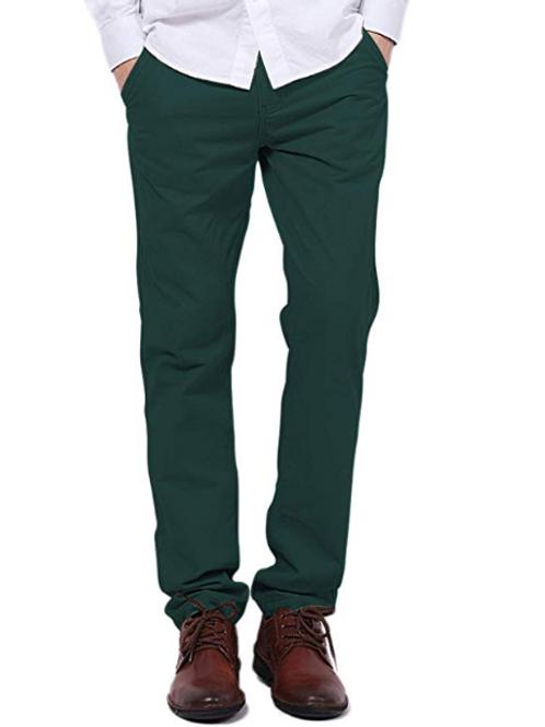 """NEW"" Tapered Chino Pants - Hunter Green"