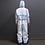 Full Body Hospital Suit - Blue Trim - Corvid-19 - Coronavirus - Rear View