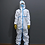 Full Body Hospital Suit - Blue Trim - Corvid-19 - Coronavirus - Front View