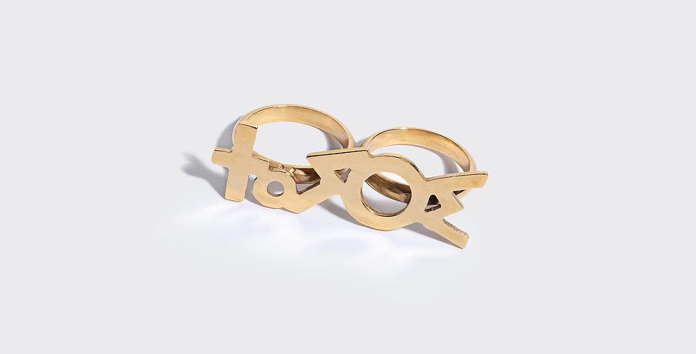 'LOVE' DOUBLE RING