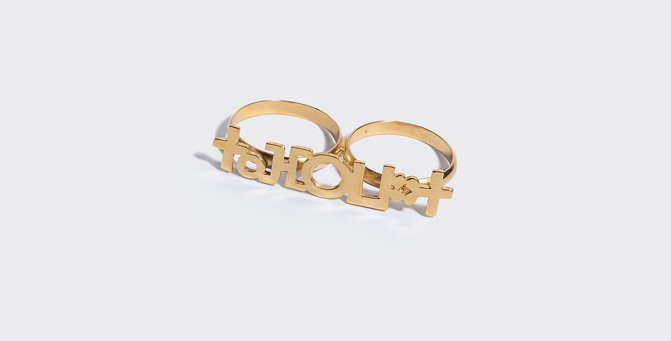 'FEMALE' DOUBLE RING