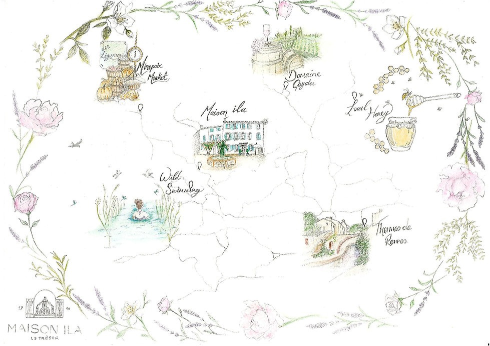 Maison ila illustrated map le tresor