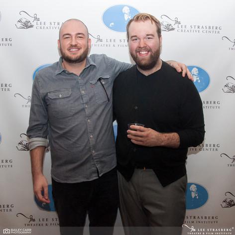 Playwright Steve DiUbaldo and Jacob at opening night of Wayward
