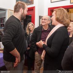 Jacob, Lyle Kessler, and Victoria Krane on opening night of Wayward