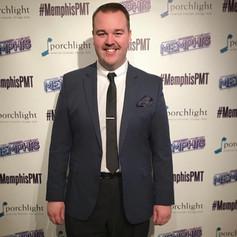 Jacob at opening night of Memphis