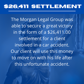 $26,411.00 Settlement For A Car Accident Insurance Claim