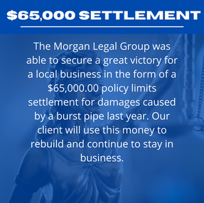 $65,000.00 Settlement For A Local Small Business