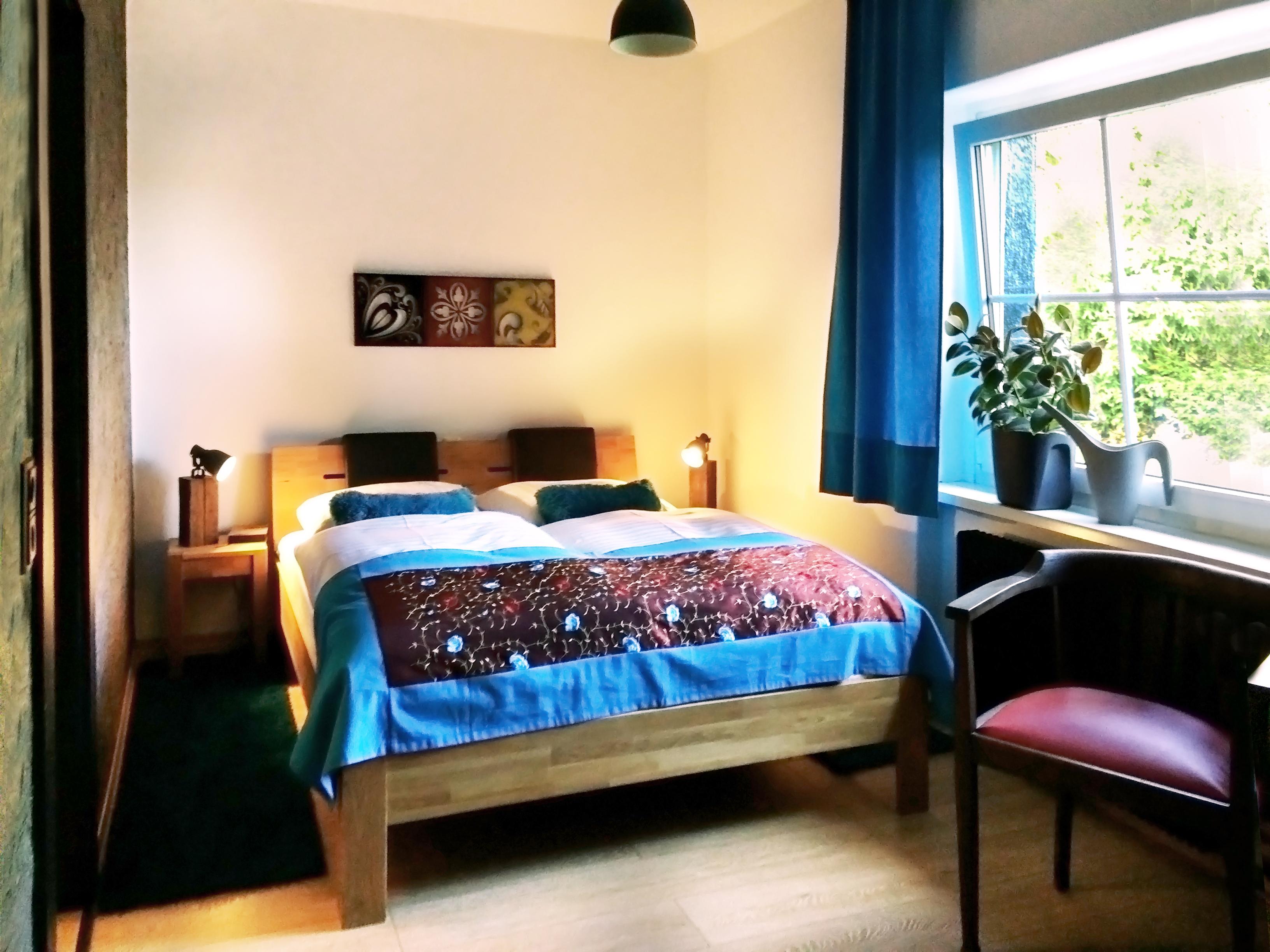 Schlafbereich-Ferienwohnung-Elfriede-Ferienhaus-Oberbaerenburg-Altenberg