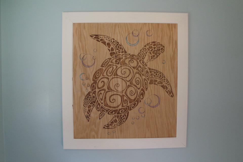 Turtle Woodburning
