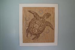 Turtle Woodburning