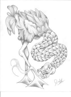 Flamingo Snake Sketch
