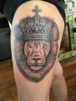 Custom Lion Tattoo