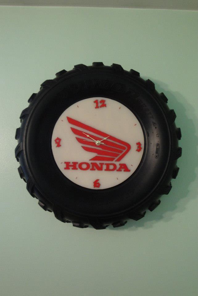Custom ATV Tire Clock