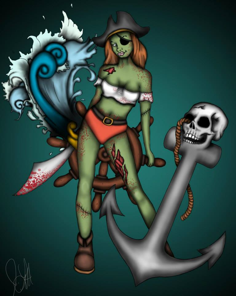 Zombie Pirate Girl