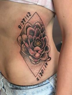 Custom Flower Tattoo