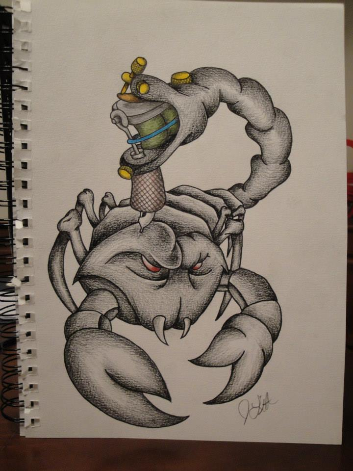 Scorpion Tattoo Sketch