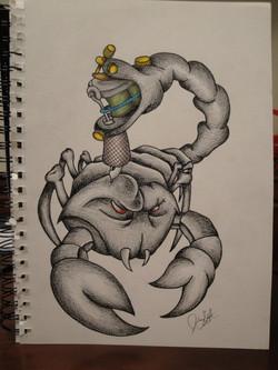 Scorpion Tattoo Sketch