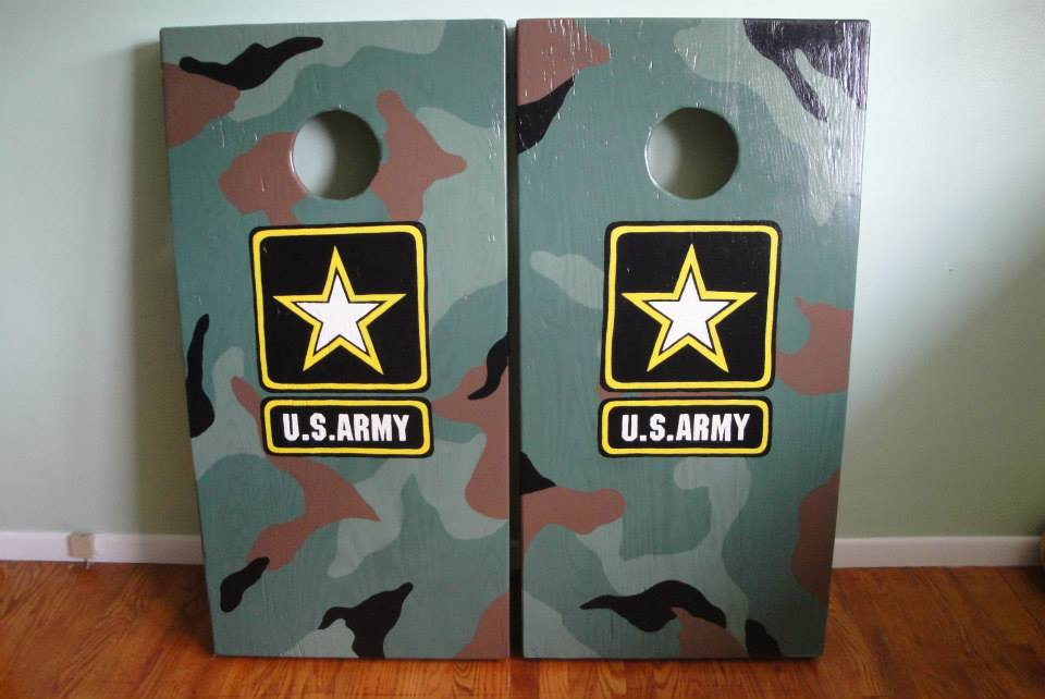 Army Corn Hole Boards