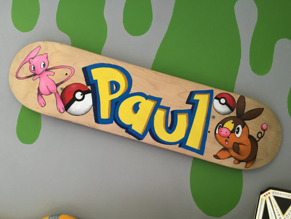 custom painted skate deck