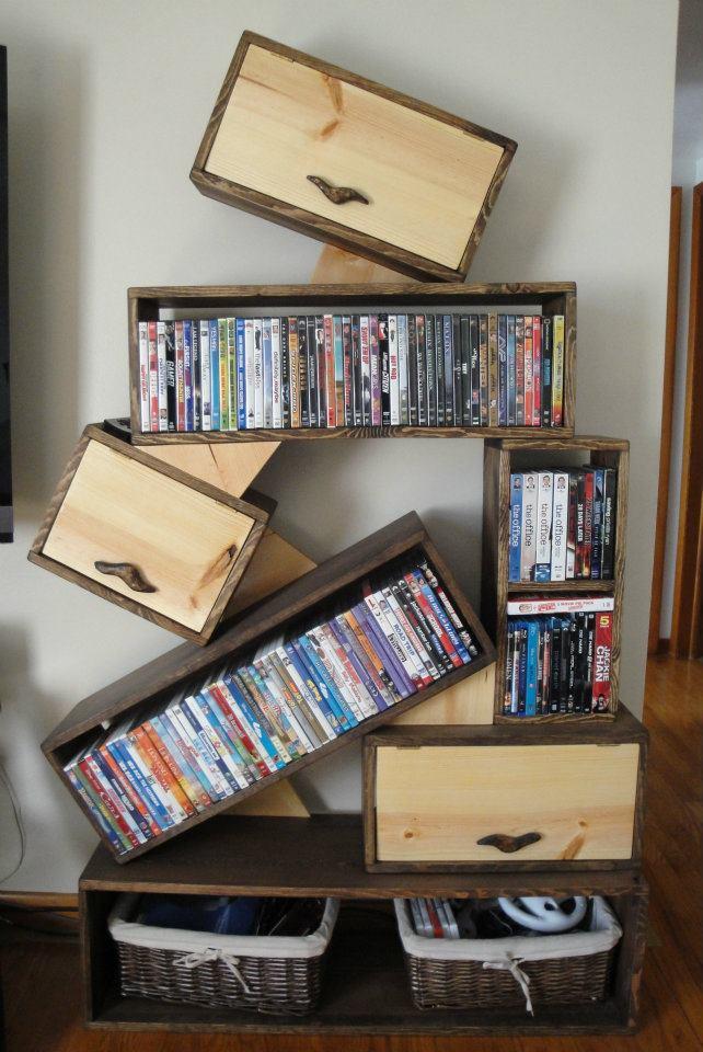 Custom DVD stand