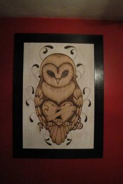 Owl Woodburning