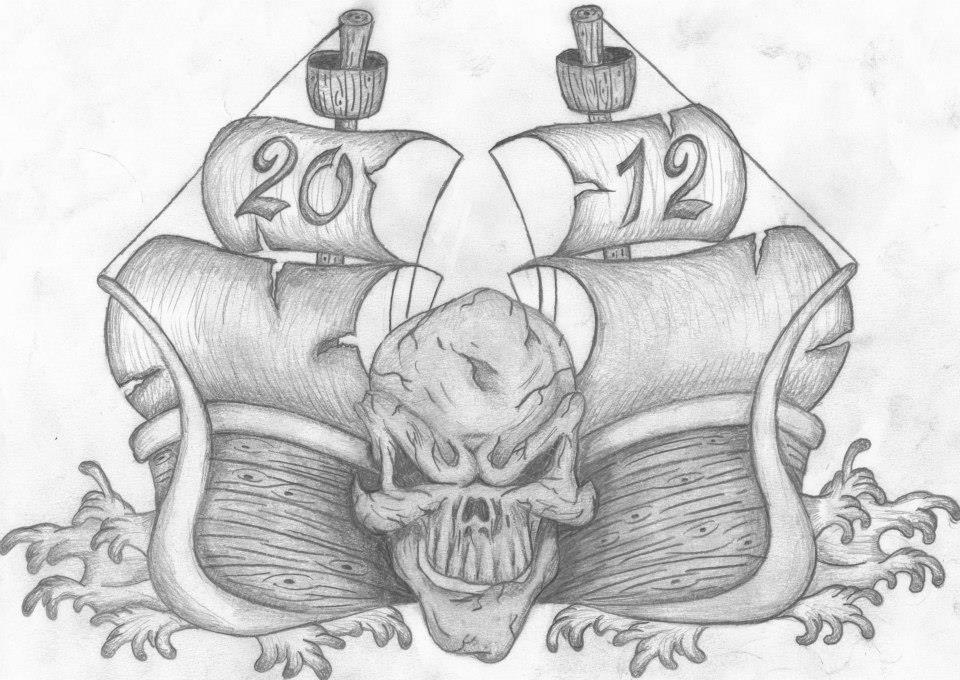 Skull Ships Sketch