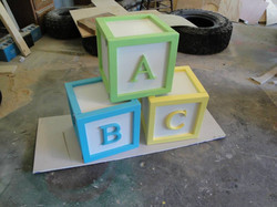 Baby Block End Table