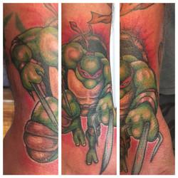 Custom Ninja Turtle Tattoo