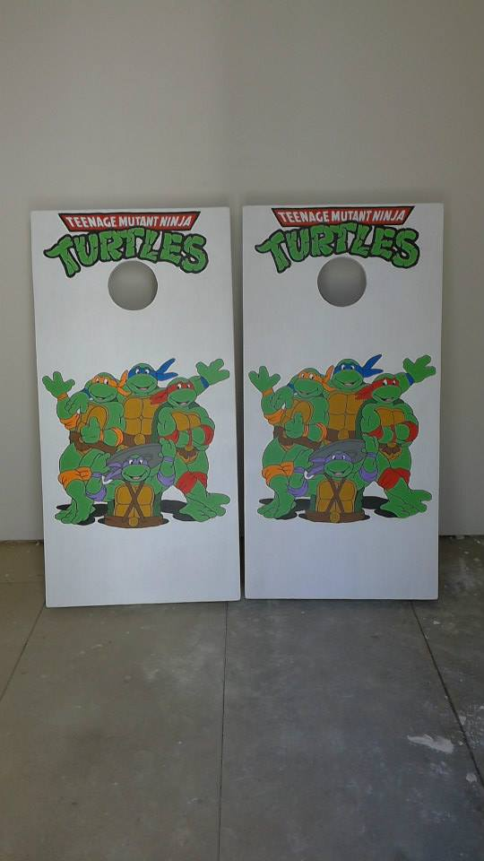 Ninja Turtle Corn Hole Boards