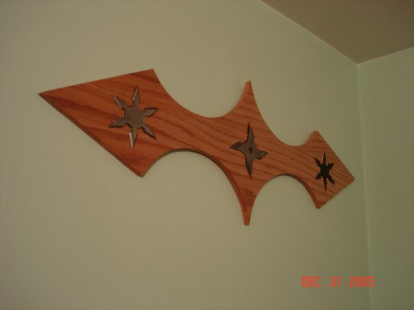 Ninja Throwing Stars Display