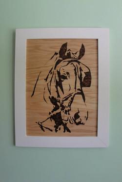 Horse Woodburning