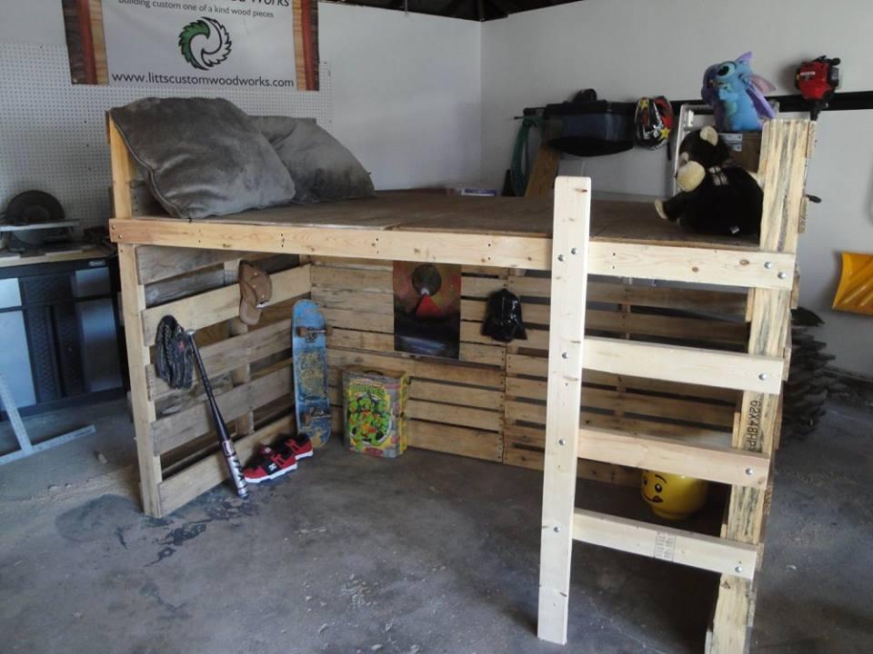 Loft Pallet Bed
