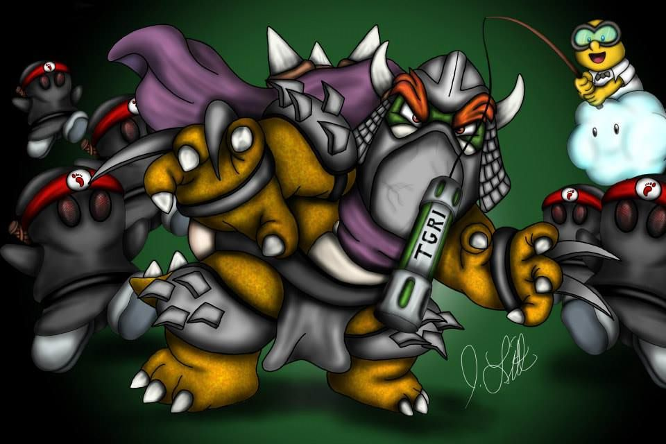 Bowser as Shredder