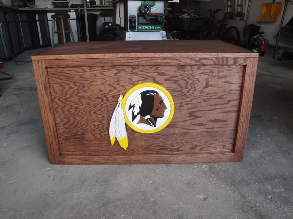 Redskins Oak Chest