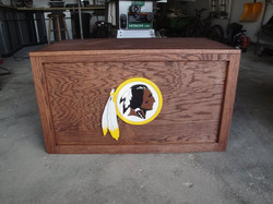 Redskins Oak Chest
