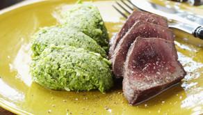 Broccolipuree met rundvlees