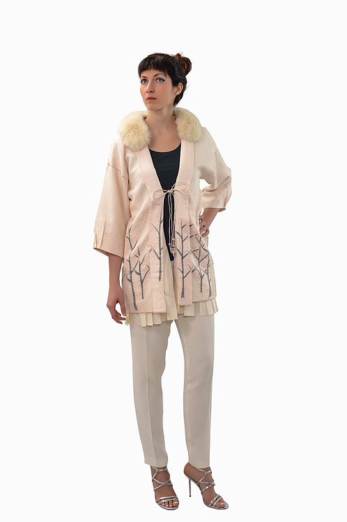 Short Kimono jacket with intricate details