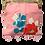Thumbnail: Vintage Pink Kimono Square Elegance