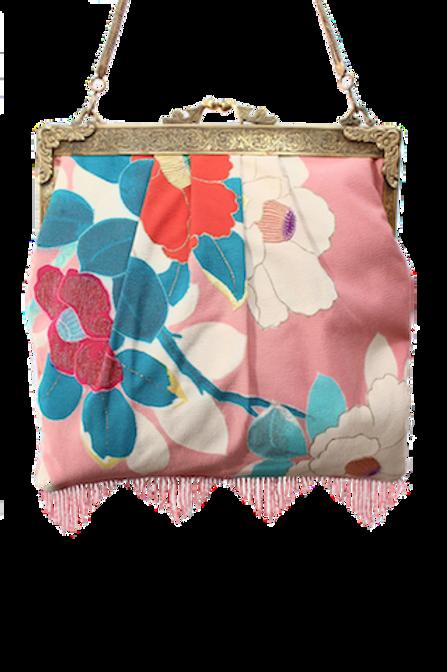 Vintage Pink Kimono Square Elegance