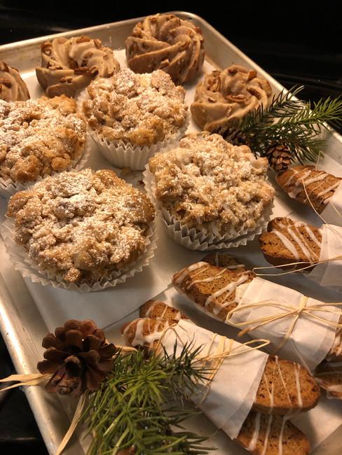 Christmas Basket Pastries