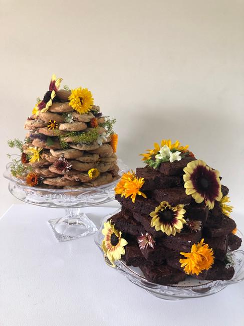 Brownie and Cookie Towers