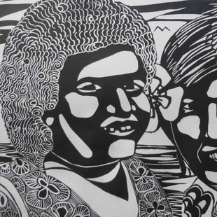 Marie and Saki (black and white)