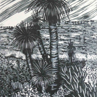 Spring in Western Australia (black and white)