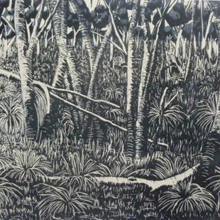 Grassy floodplain