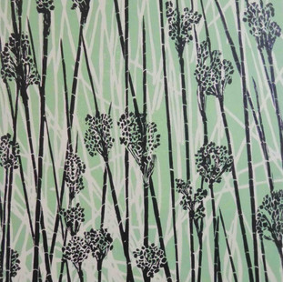 Black reeds on green