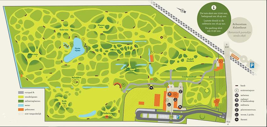 Arboretum Kalmthout plattegrond